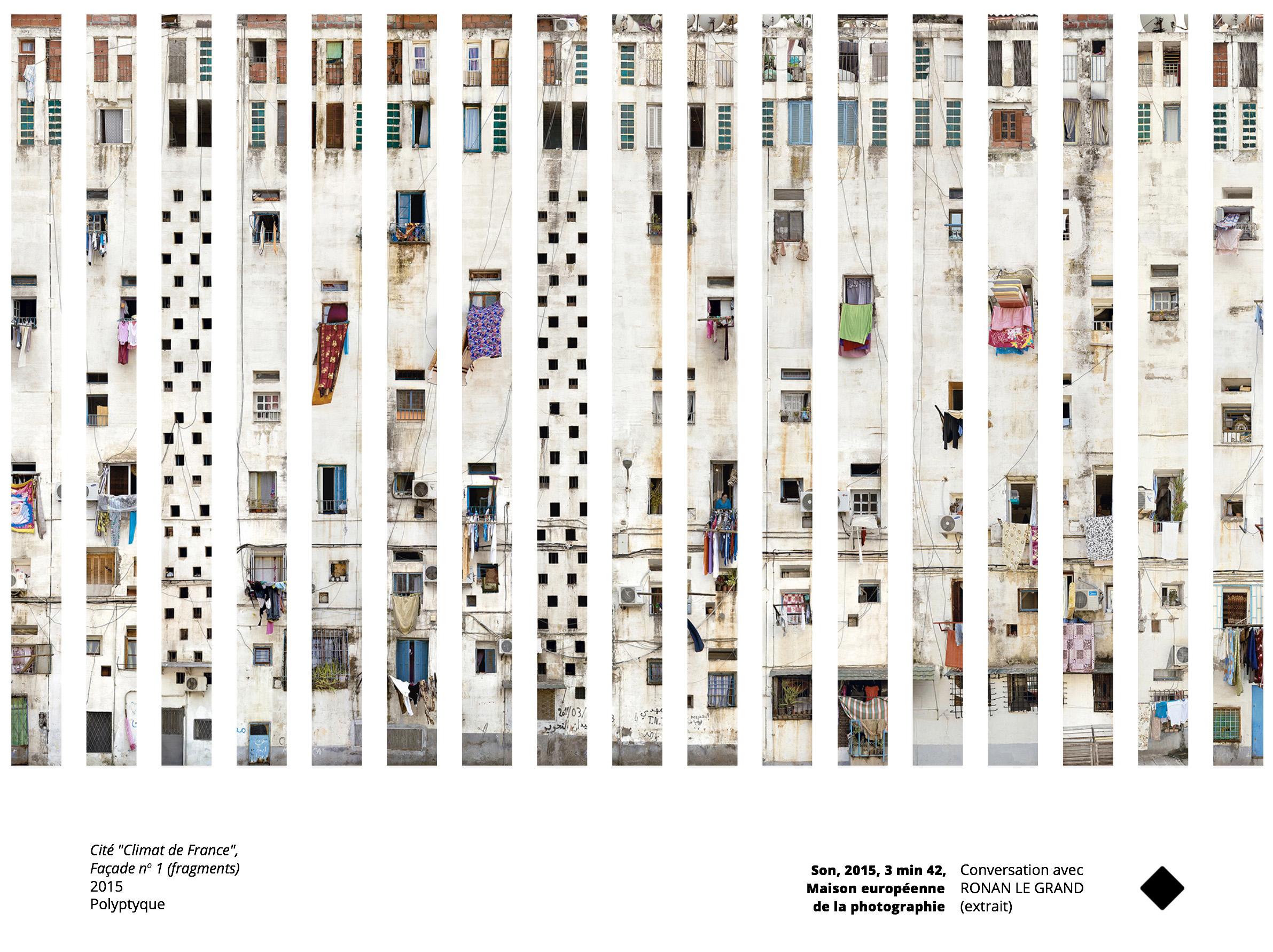 Stéphane Couturier, fragments de façades de la cité Climat de France à Alger