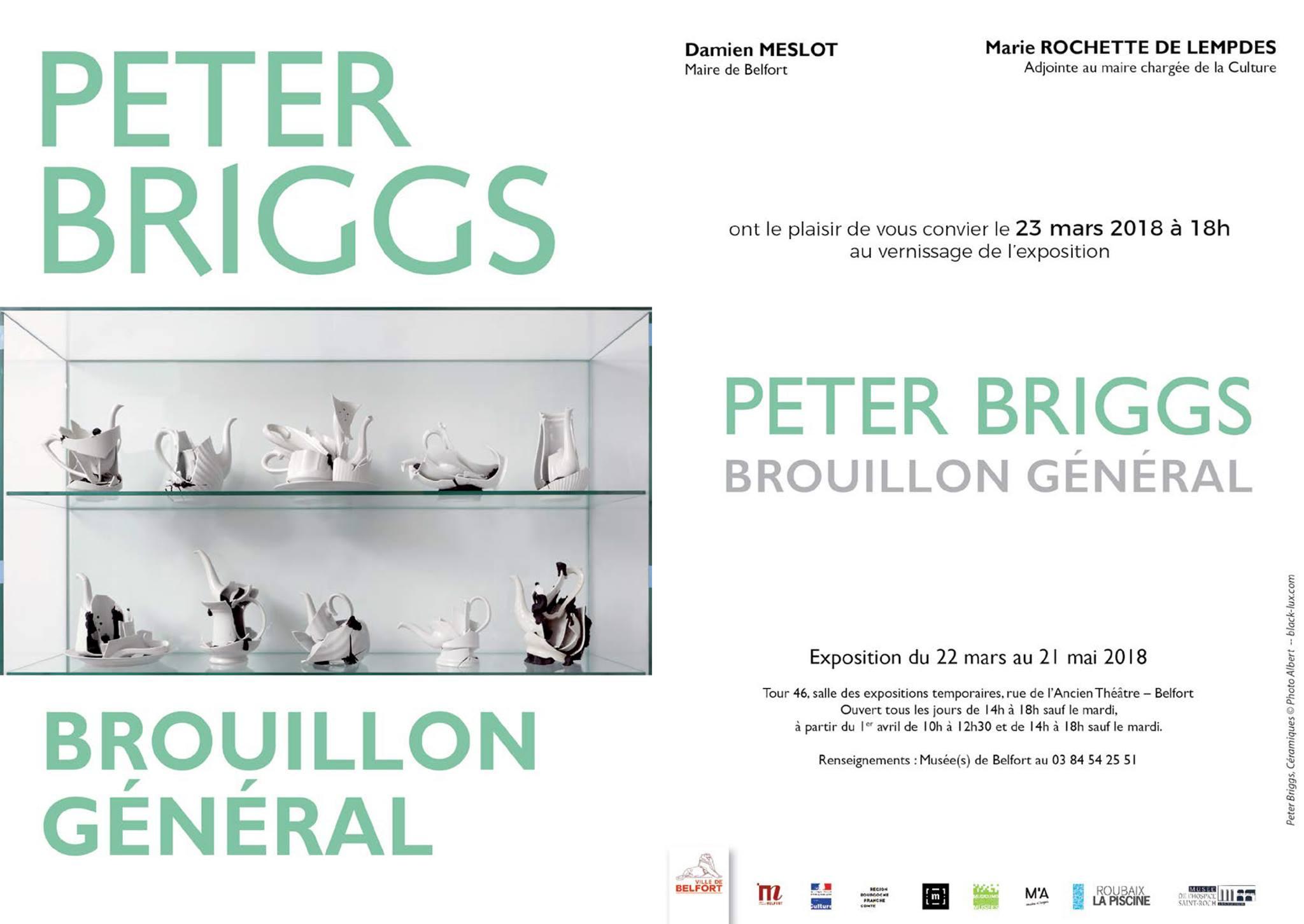 Carton d'invitation de l'exposition Peter Briggs à Belfort