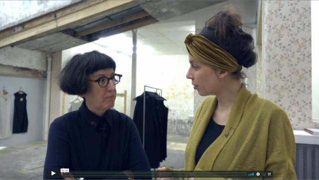 Monika Brugger et Laurence Verdier à la galerie Mercier & associés