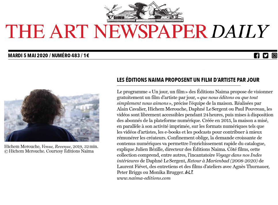 The art newspaper daily du 5 mai 2020
